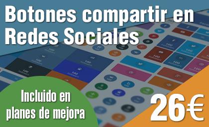 Botones compartir en Redes Sociales plugin