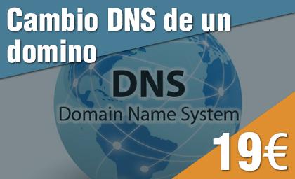 Cambio DNS de un dominio