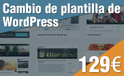 Cambio de plantilla de WordPress Theme