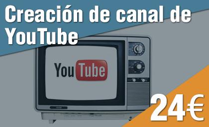 Creación canal de YouTube