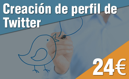 Creación perfil de Twitter