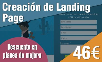 Creacion de Landing Page Tarifas