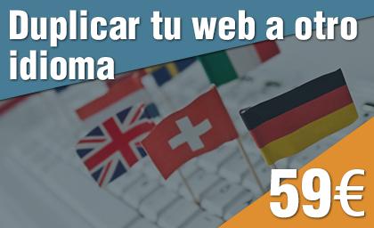 Duplicar web a otro idioma