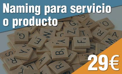 Naming para servicio o producto